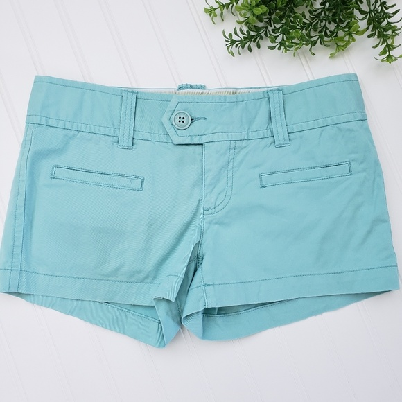 American Eagle Outfitters Pants - American Eagle Mint Green Stretch Chino Shorts
